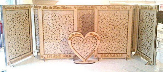 Heart drop top Guest book - wedding planning discussion forums